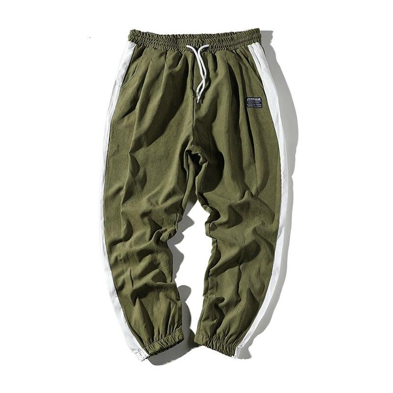 Autumn New Joggers Pants Men Fashion Contrast Color Casual Gym Trousers Man Streetwear Wild Hip Hop Loose Sweatpants Men M-5XL