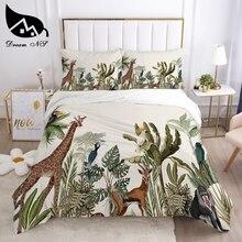 Dream NS Tropical Rainforest Plant Bedding set Queen Bedding Home Textiles Set Bedclothes Gradient Mandala duvet cover set