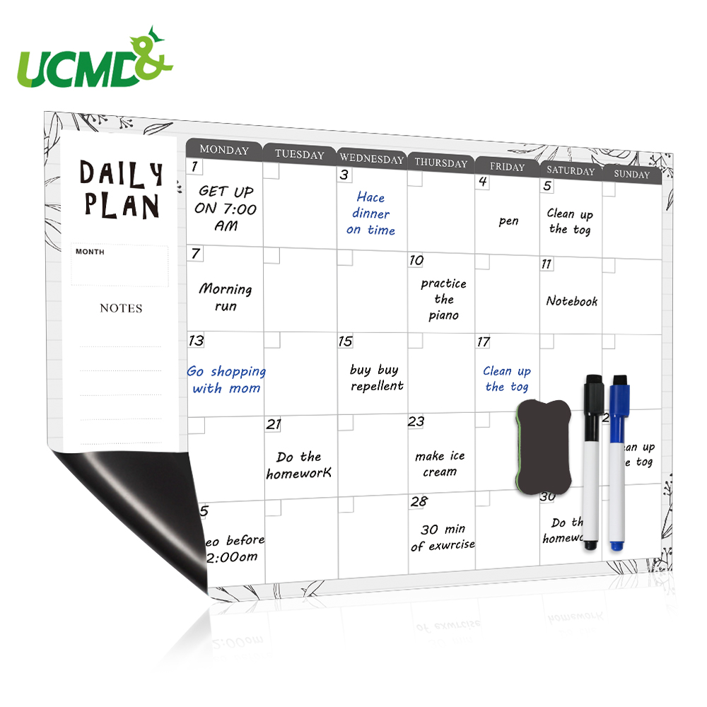 Magnetic Weekly Daily Planner White Board For Fridge Organizer Dry Erase Calendar Family Menu Chore Chart Office To Do List Memo