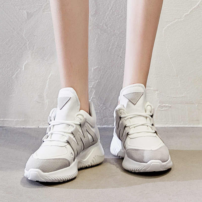 Trend w modzie na co dzień damskie buty dzikie niskie zwiększyć odkryte buty kobieta trampki Zapatos De Mujer Tenis Feminino Adulto trampki
