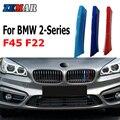 ZEMAR 3 шт. ABS для BMW F22 F45 F23 F46 Серия 2 автомобильные гонки решетка полоса отделка зажим М МОЩНОСТЬ характеристики аксессуары 2014-2019 2020