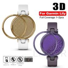 רך זכוכית מזג מגן מסך עבור Garmin שושן 3D מלא מעוקל מגן סרט כיסוי עבור Garmin שושן סרט שעון סגול זהב