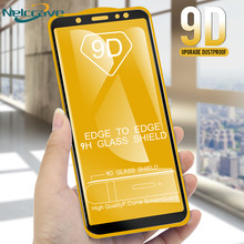 50 Pieces Full Coverage 9D Tempered Glass For Samsung Galaxy A6 2018 A8 Plus A3 A5 A7 2017 2016 A320 A520 A720 A310 A510 A710(China)