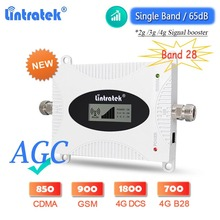 2021 New Upgraded Lintratek AGC 4G Signal Booster LTE B28 700 DCS 1800 WCDMA 2100 GSM 900 Cellphone Amplifier Cellular Repeater