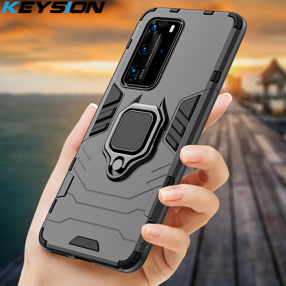 Keysion Shockproof Case Voor Huawei P40 P40 Pro + Plus Mate 30 P30 P20 Lite Telefoon Cover Voor Honor 30 20 Lite 20S 10i X10 8 S 9A 8A