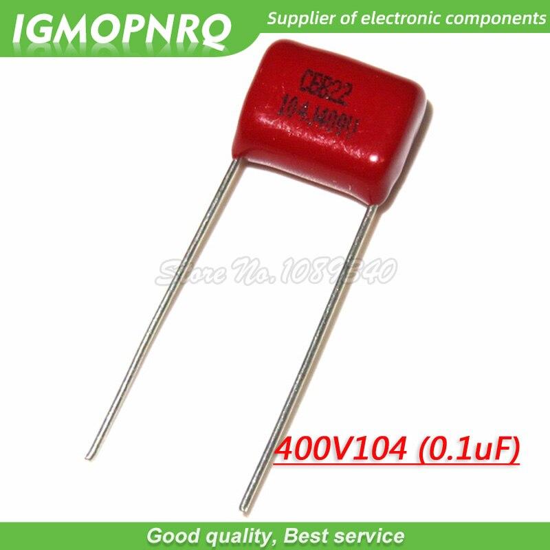 10PCS 400V104J Pitch 10mm 0.1UF 100NF 400V 104 CBB 400V104J-P10 Polypropylene Film Capacitor