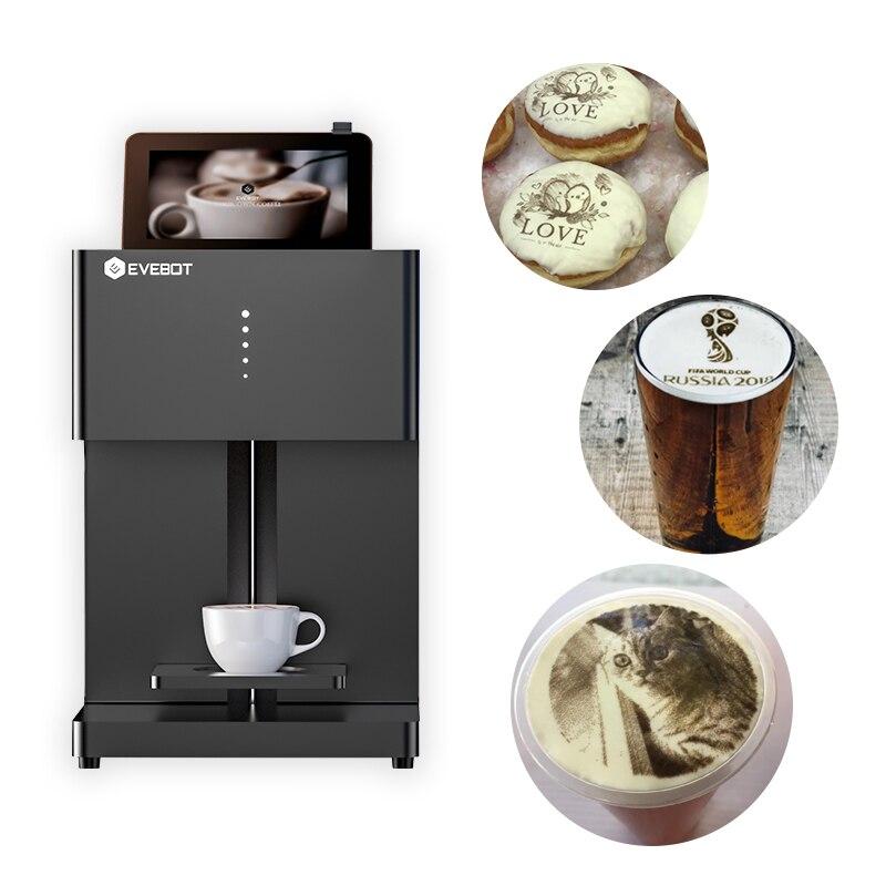 EVEBOT 3Dprinter принтер для кофе, латте, латте, печенья, съедобные чернила, шоколадное печенье, хлебный принтер, Бесплатный картридж для чернил