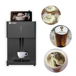 Evebot 3 Pelari Cepat Kopi Printer Latte Latte Pembuat Biskuit Dimakan Tinta Biskuit Coklat Roti Printer Gratis Ink Cartridge