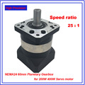 25:1 соотношение NEMA24 60 мм планетарный редуктор 14 мм Входная Высокая прецизионная коробка передач редуктор для 200 Вт 400 Вт Серводвигатель шагов...