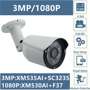 Image 1 - 3MP 2MP IP Metal Bullet Camera Outdoor XM535AI+SC3235 2304*1296 XM530+F37 1080P IP66 WaterProof CMS XMEYE P2P Cloud RTSP