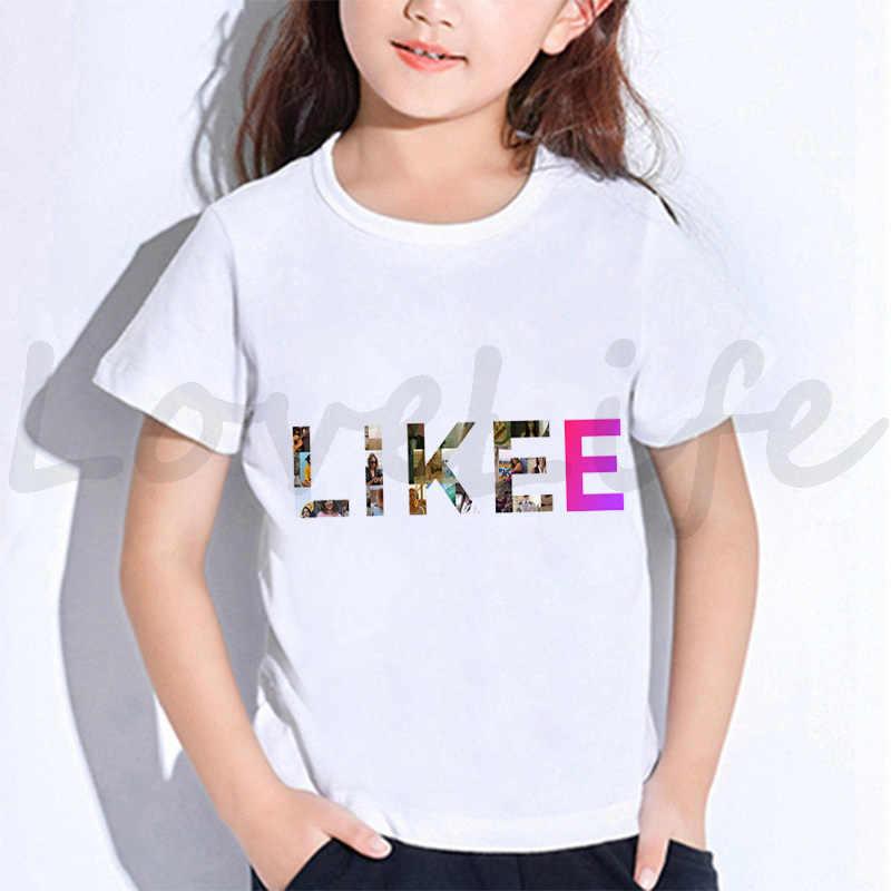 Likee T Shirt Oversize Donne Bambini LIKEE Magliette Streetwear Manica Corta T Camicette Grafici Magliette Delle Ragazze Dei Ragazzi della Maglietta Degli Uomini Russia stile