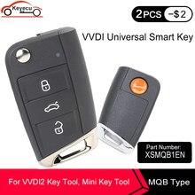Универсальный умный бесконтактный ключ KEYECU Xhorse XSMQB1EN с 3 кнопками, умный ключ MQB для VVDI Key Tool VVDI2 XSMQB1EN