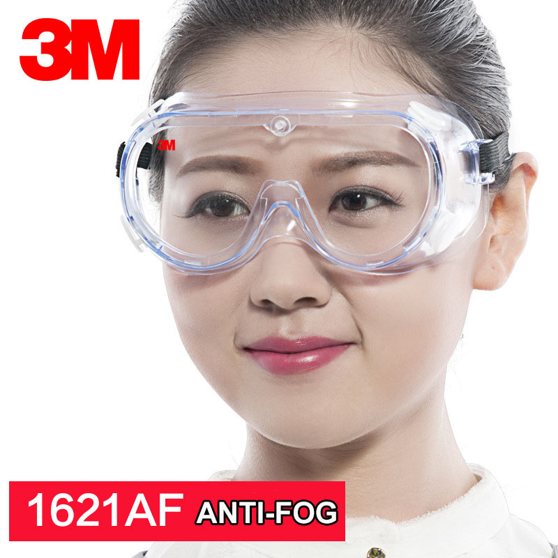 3M Safety Goggles 1621AF Anti-fog And Anti Chemical Splash Protective Glasses Lab  Eye Protection Labor Work Anti-sand