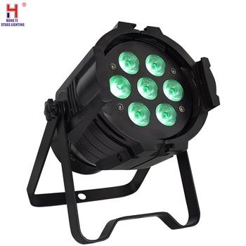 Aluminum LED Par 7x12W 4in1 RGBW Lighting DMX 512 Stage Light for club disco DJ Par led light