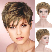 Short Wigs Wig-Costume Hair-Wig Cosplay Pixie-Cut Party Synthetic Women for Heat-Resistant
