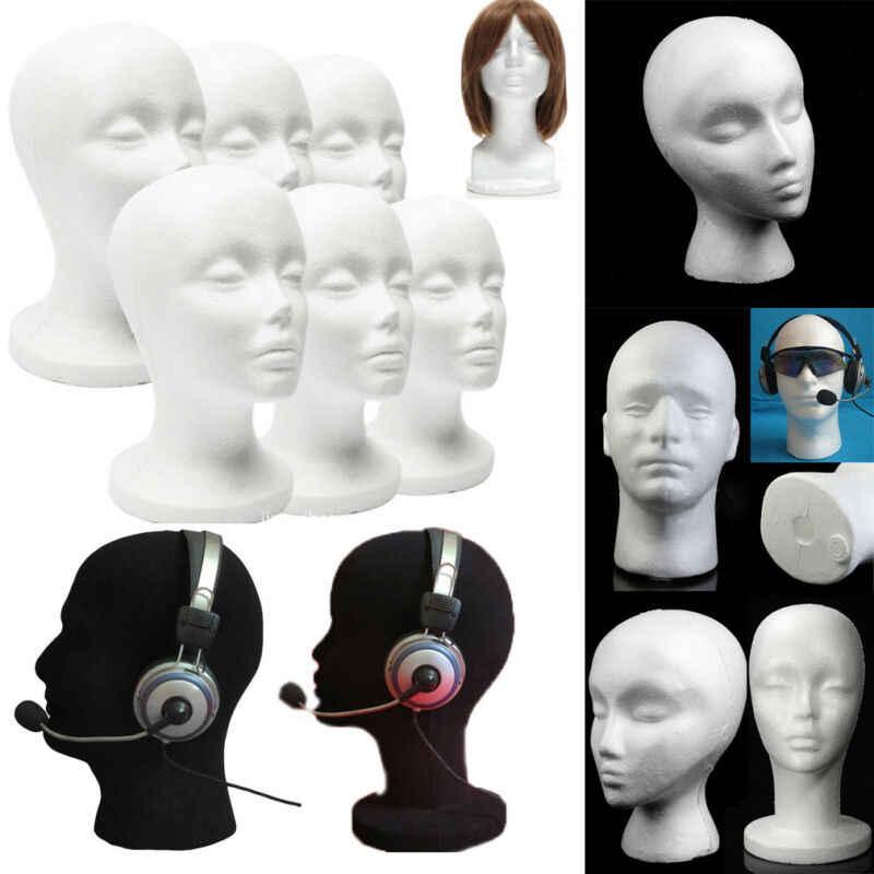 Erkek Manken Strafor Köpük Manken Kafa Modeli Peruk Gözlük Şapka Ekran Standı