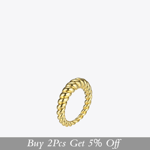 Image 2 - Enfashion Pure Form Twist Rings For Women Gifts Gold Color Brass Wave Men Ring Fashion Jewelry Bague Anillo Jewellery RF184005