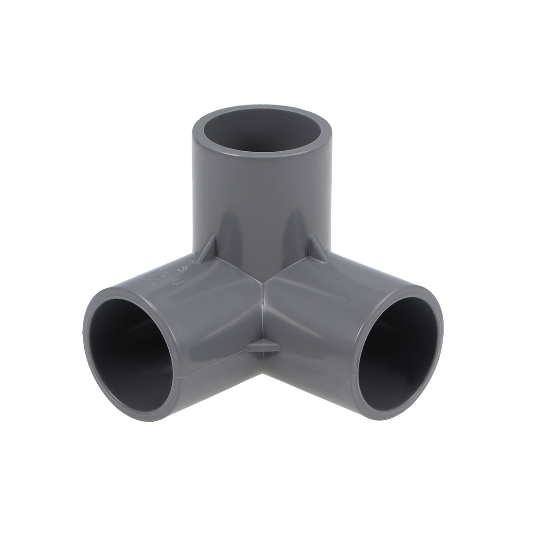 Uxcell 3-Way Elbow PVC Fitting, 25mm Socket, Tee Corner Fittings Gray 10Pcs