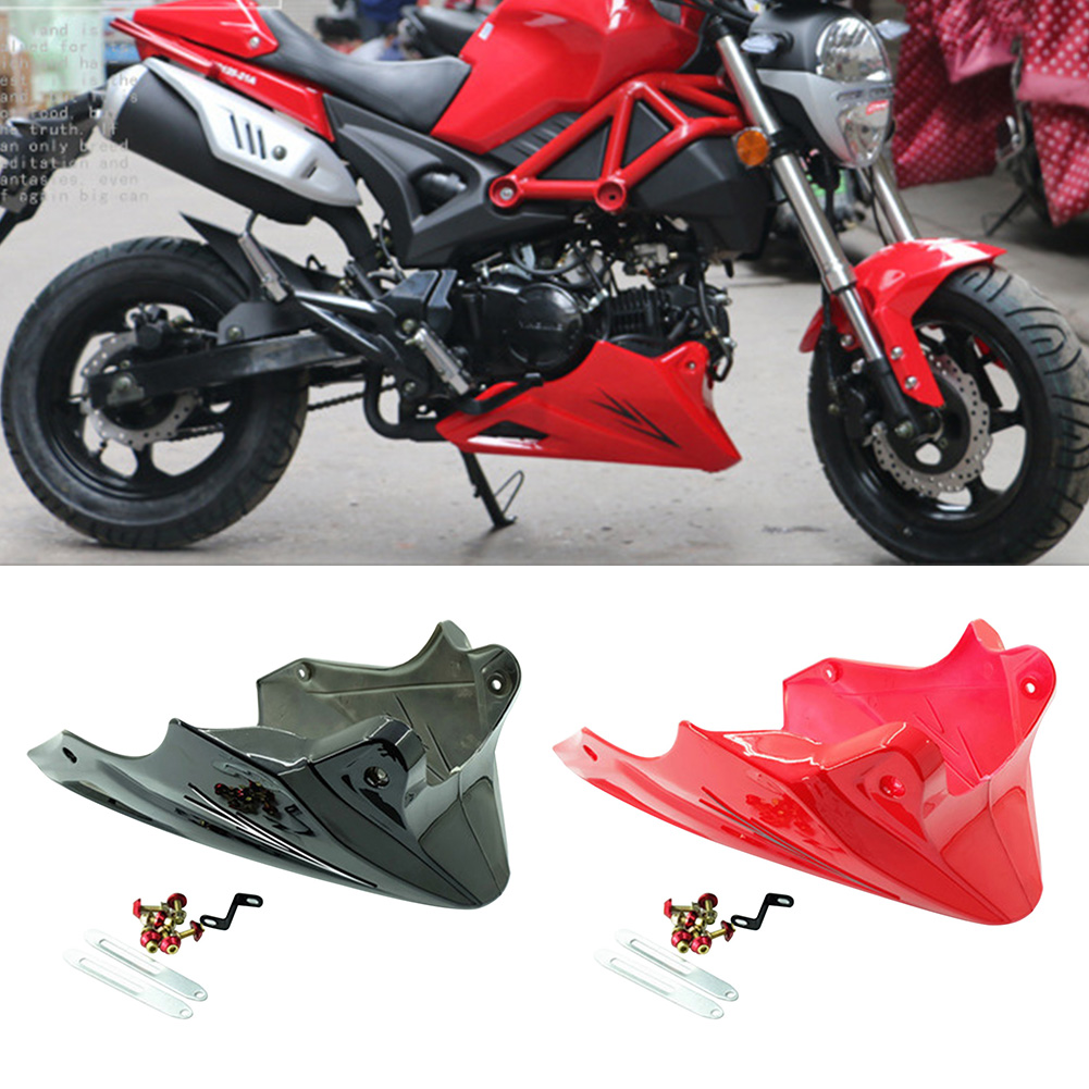 Black Red Engine Protector Guard Cover Under Cowl Lowered Low Shrouds Fairing Belly Pan For Honda MSX 125 2012-2014 2016