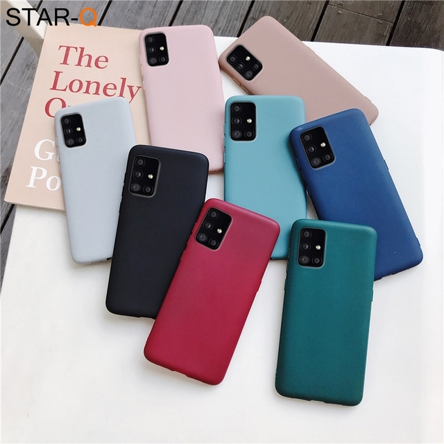 candy color silicone phone case for samsung galaxy a51 a71 5g a31 a11 a41 m51 m31 a21s a91 A81 A01 matte soft tpu cover 2