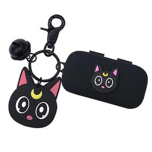 Силиконовый чехол с милым японским котом для QCY T5 T1X/T1S, беспроводные Bluetooth наушники, портативный защитный чехол, Декор, кукольный брелок, пода...