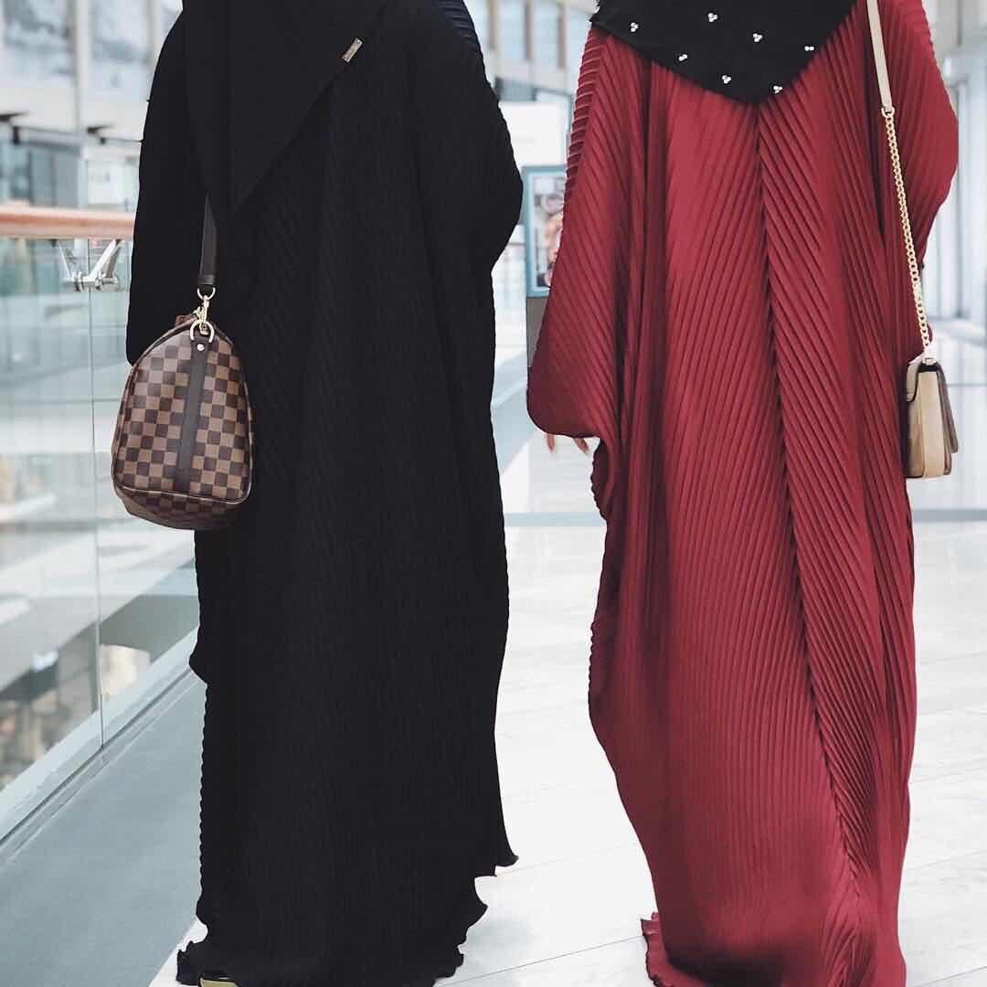 Elegant Muslim Abaya Bat Sleeve Maxi Dress Muslim Women's Abaya