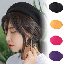 Cap Beret Women Hat Beanie Faux-Wool Artist Winter Fashion Warm Solid Baggy
