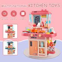 42 sztuk zabawki kuchenne dla dzieci symulacja детская кухня Spray woda naczynia udawaj zagraj w stół kuchenny zestaw kuchenny na prezenty dla dzieci