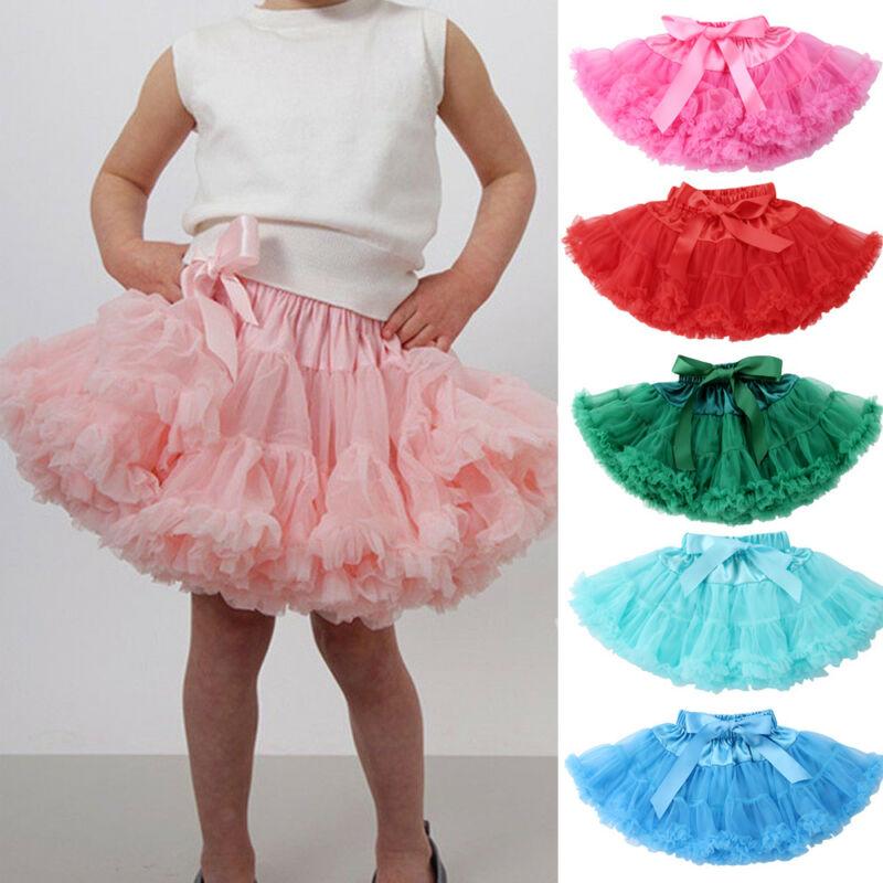 2019 Brand Baby Girls Tutu Skirt Fluffy Children Ballet Kids Pettiskirt Baby Girl Princess Tulle Skirt Party Dance Skirts 0-5Y