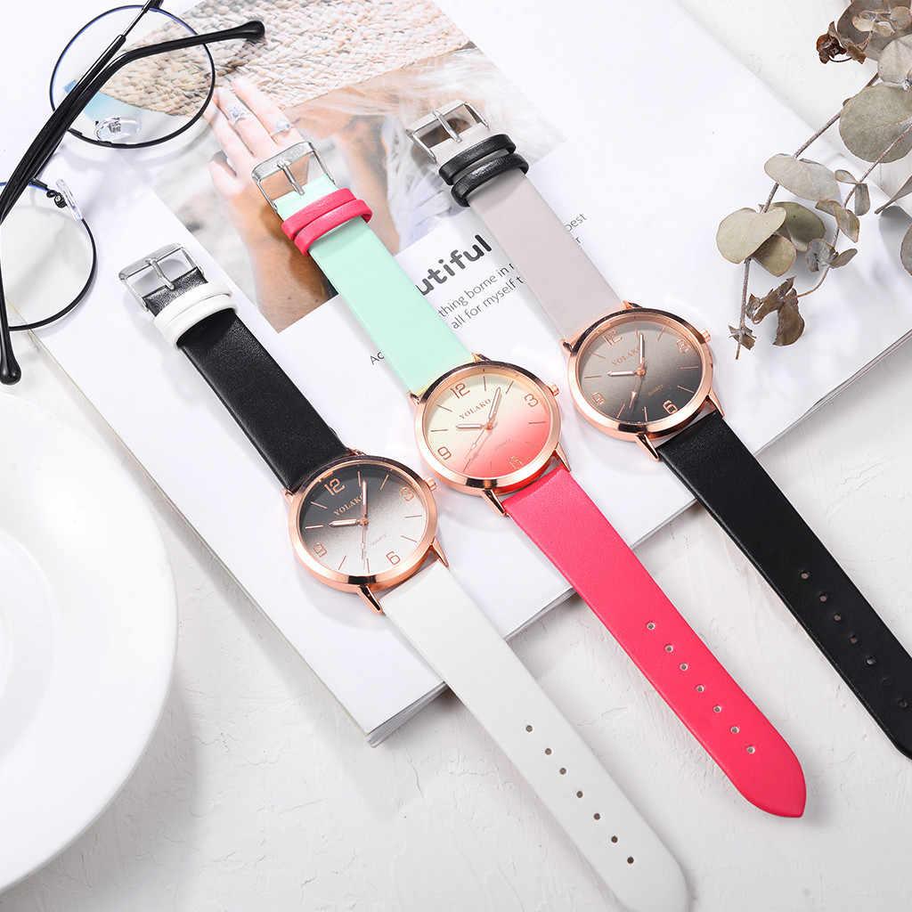 נשים של פשוט עור קוורץ שעון נשים גבירותיי שמלה שעון סטודנטים מקרית שעוני יד Relojes Montre Femme מתנה 2020