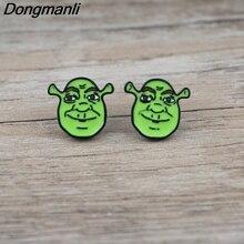 Cute Earrings Jewelry Pierce Monster Stainless-Steel Girls 1-Pair Women Dongmanli