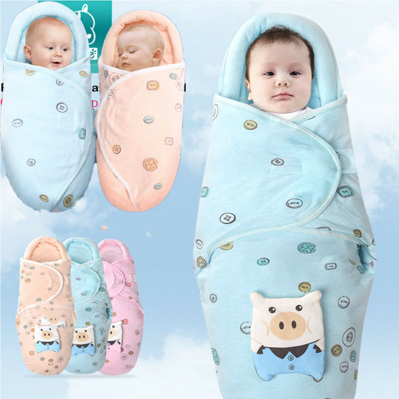 Babies Sleeping Bags Newborn Baby Cocoon Swaddle Wrap Envelope 100%Cotton Baby Blanket Swaddling Wrap Sleeping Bag