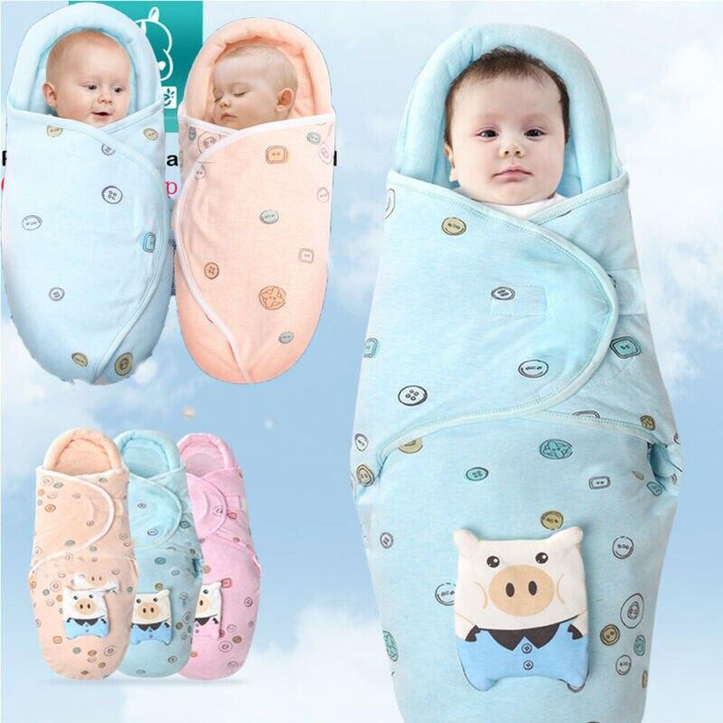 Babies Sleeping Bags Newborn Baby Cocoon Swaddle Wrap Envelope 100%Cotton Baby Blanket Swaddling Wrap Sleeping Bag