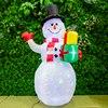 150cm Christmas Inflatable Snowman LED Night Light Luminous Outdoor Toys Christmas Decorations Happy New Year UK US EU Plug