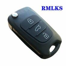 Novo escudo chave remota para hyundai i20 i30 ix35 i35 acento para kia picanto sportage k5 3 botões flip dobrável remoto chave caso