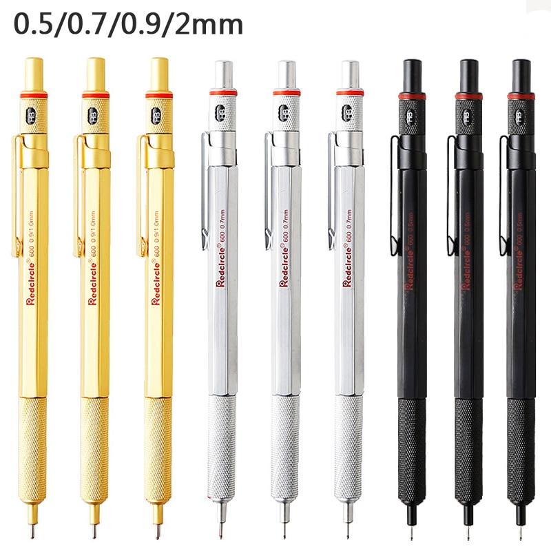 Redcircle Mechanical Pencil Drawing Drafting Pencil 0.5 0.7 2.0mm Lead Automatic Pencils Potloden Vulpotlood School Art Supplies