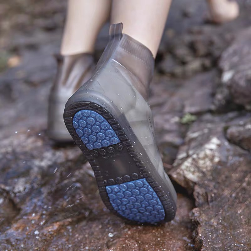 Waterproof Protector Shoes Boot Cover Unisex Rain Shoe Covers High-Top Anti-Slip Rain Shoes Cases