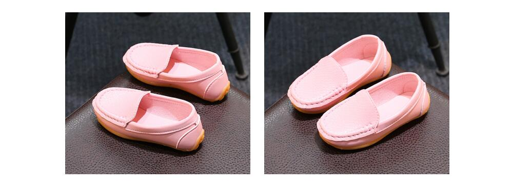 H8ff2594f5c8e4aa3868950f6b0868bc8O - 12 Colors All Sizes 21-36 Children Shoes PU Leather Casual Styles Boys Girls Shoes Soft Comfortable Loafers Slip On Kids Shoes