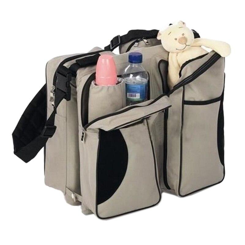 3-in-1 Mommy Changing Bag - Travel Bag - Cradle - Station