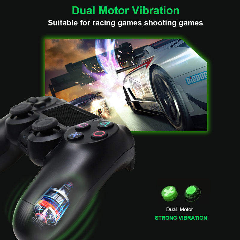Bluetooth Gamepad and Wireless Game controller with Audio Function for PS4 and PS3 6