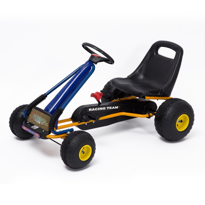 HOMCOM Go Kart con Pedales y Ruedas Coches Ninos a Pedales Aprovado por Norma EN 71 Asiento Ajustable y Freno de Mano|Coches para montarse| - AliExpress