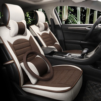 Flax materialcar seat covers For Nissan almera classic g15 n16 altima bluebird sylphy cefiro cima of 2018 2017 2016 2015