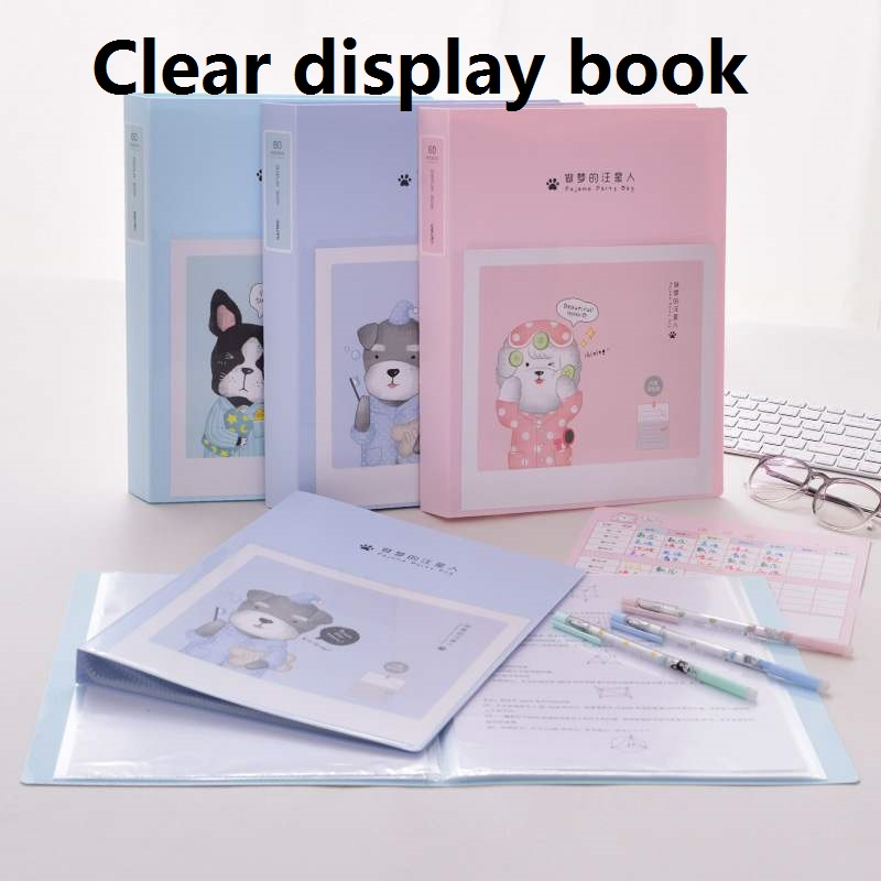 30/40/60Pockets Clear Display Book Medical Report Student Exam Paper Office Meeting Files Various Documents Storage 72552