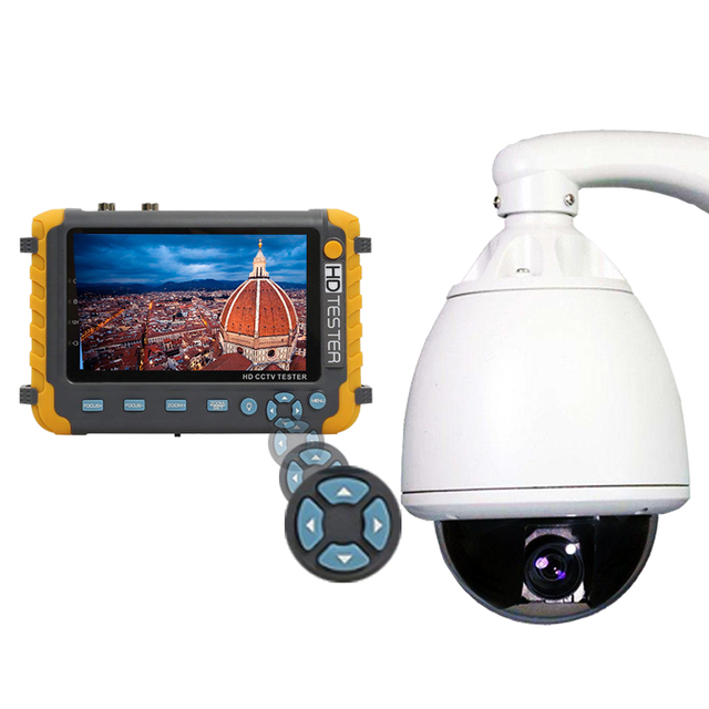 5 Inch TFT LCD 1080P 5MP 4MP 4 IN 1 TVI AHD CVI Analog CCTV Tester Security Camera Tester Monitor HDMI Input Audio Test