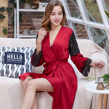 Women Pajamas 2 Pieces Satin Sleepwear Pijama Silk Home Wear Home Clothing Embroidery Sleep