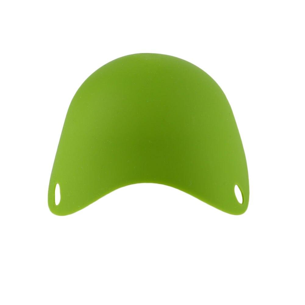 DIY натуральный силиконовый яичный котел Защита окружающей среды яйцо Пароварка многоцветный - Цвет: Green