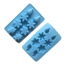 3D Christmas Snowman Snowflakes Silicone Mold Fondant Cake Chocolate Decorating