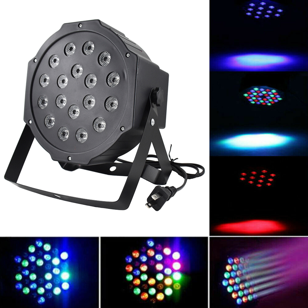 RGB 18LEDs Stage PAR Light Bar Disco Party Light DMX Auto Sound Master-Slave Light Stage Bar Lamp DJ Sound Background Wall Light title=