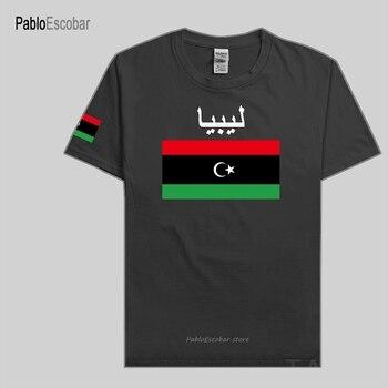 Camiseta de los hombres de Libia, camisetas de la Nación, Camiseta 100% de algodón, camiseta, ropa, país, ropa de la bandera, LBY, Islam árabe libio