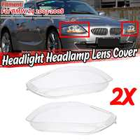 A Pair Z4 Car Clear Front Headlight Headlamp Lens Cover Trim Shell Replacement For BMW Z4 2003 2008 63127165678 63127165677